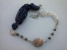 OOAK ARTISAN Handmade silver necklace wire wraped by magyartist