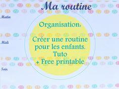 routine enfant free printable