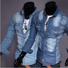 camisa manga tres cuartos para hombre - Buscar con Google