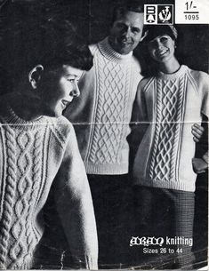 womens mens childrens aran knitting pattern PDF download aran sweater aran…