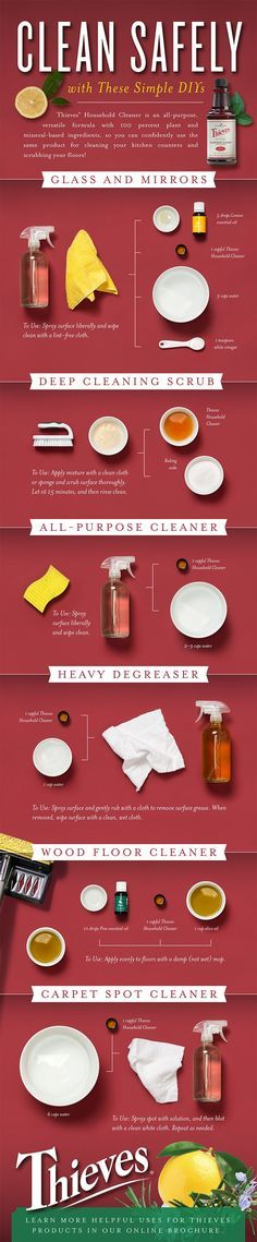 This is THE BEST chemical free house cleaner! I'm addicted to Thieves Cleaner. Check out these easy DIY cleaning ideas. Get started with essential oils recipes