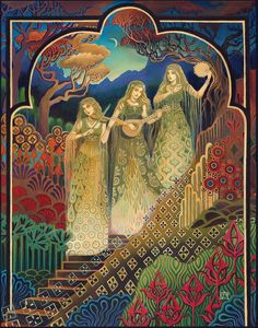 Sisters of Mercy ACEO Pagan Music Goddess by EmilyBalivet on Etsy