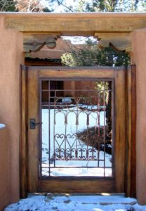 Tin-Topped Gate with Antique Grillwork