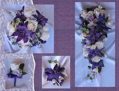 New Regency Bridal Bouquets, Purple Wedding Flowers, Regal Wedding Bouquets #KymMaree #Wedding #FlowersBouquets