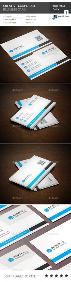 Creative Corporate Business Card Template #design Buy and Download: http://graphicriver.net/item/creative-corporate-business-card/12840744?ref=ksioks