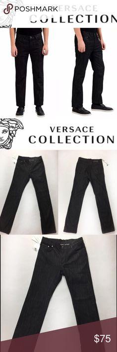 "OFFERS👍NWT VERSACE COLLECTION ""TREND"" SIZE 31 Luxurious and 100% Authentic Versace slim jeans, model ""Trend"" gorgeous and absolutely flawless! Brand new with tags. Perfect and elegant to combine with everything! approx Inseam 32.5-33""Love it? Make an offer! Questions? Ask me 😉 I'm very open to offers 👌✨ Versace Jeans"
