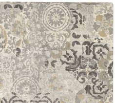 Talia Printed Rug - Gray