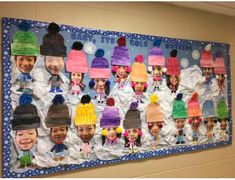 Easy Christmas Classroom Decorations you'll have to check out before you scroll up Christmas Bulletin Boards, Winter Bulletin Boards, Preschool Bulletin Boards, Preschool Art, January Bulletin Board Ideas, Kids Winter Hats, Winter Crafts For Kids, Preschool Christmas, Christmas Crafts