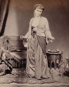 legrandcirque:    Roger Fenton, Egyptian Dancing Girl, 1858.  Source: Getty Museum.