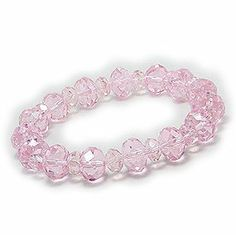 Crystal Stretch Bracelet in Rose Crazy4Bling.com. $11.24. Beaded With: Crystal Glass. Product Type: Bracelet. Width: 12 mm.. Save 25%!