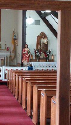 Saint Philomena statue at a CMRI chapel - Made by Ferdinand Stuflesser in Italy