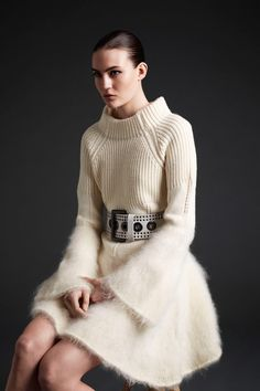 knitmenot:  We love it when random trawls of the internet uncover beautiful knitwear, love the McQueen dress, found on theswellelife.com
