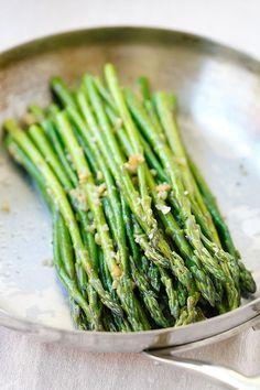 Garlic Butter Sauteed Asparagus #healthy #veggies #asparagus