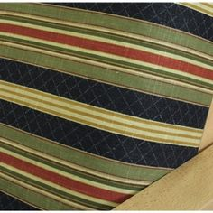 Etienne Noir futon cover features never ending horizontal striped pattern in perfect color pallet of navy blue, spruce green, and burgundy, accented with pinstripe in golden rod and cream. Add the perfect nuance to your living space with this beautiful cover #futons
