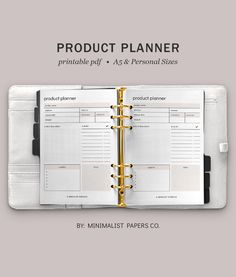 New Product Planner and Business Planner, Marketing Planner and Etsy Planner, Business Plan, and Listing Planner in A5 & Personal Size For Individual Who Loves Minimalistic And Clean Design, Instant Download! #productplanner #newproductplanner #shoplanner #marketingplanner #listingplanner #businessplan #projectplanner #salesplanner #productinfotemplate #newproducttemplate