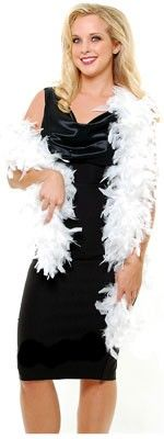 1920s Inspired White Feather Boa