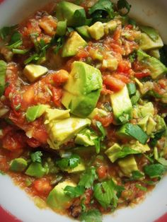 Roasted Garlic Tomato Salsa With Avocado - Hispanic Kitchen