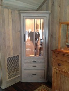 Corner Gun Cabinet | Furniture | Pinterest | Guns, Men cave and ...