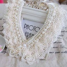 Lace and pearls, that's all she needs! #shabbyGirl