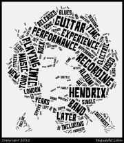 Tagxedo - allows you to create Word Cloud with Styles - it can be morphed into Jim Hendrix or a Tree  - very fun tool!