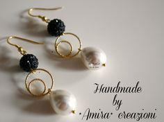 Handmade pendants with Swarovski balls <3