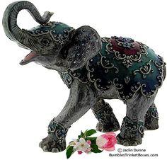 Trinket Box: Enamel and Crystal Elephant Elephant Stuff, Elephant Art, Elephant Gifts, Elephant Illustration, Elephant Parade, Elephant Jewelry, Rhinos, Gentle Giant, Spanish Quotes