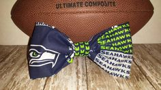 "Seattle Seahawks 4"" Hair Bow, Alligator clip, 12th Man accessories"
