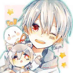 Be kind 💛 Cute Anime Chibi, Kawaii Chibi, Anime Cat, Chica Anime Manga, Cute Anime Boy, Otaku Anime, Anime Guys, Anime Triste, Fan Anime
