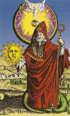 the hermit - tarot of the holy light -  If you love Tarot, visit me at www.WhiteRabbitTarot.com