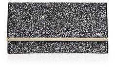 Maia Glittered Textile & Leather Clutch