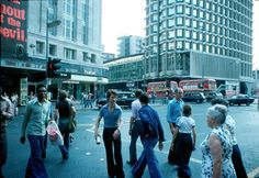 Tottenham Court Road Station 1976 Klaus Hiltscher, occasionally known as the Rock n' Roll accountant or Affendaddy as he is known on Flickr, snapped away while strolling around the West End of London during the long hot summer of 1976.