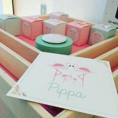 Pippa  #flamingo #flamingos #geboortekaartje #doopsuiker #doopsuikers #suikerbonen #suikerboon #pastel #pink #mint #pastelmint #pastelpink #doopsuikerblueandpink #doopsuikerpresentatie
