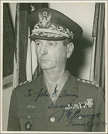 "Jonathan Mayhew ""Skinny"" Wainwright IV (August 23, 1883 – September 2, 1953) was a career American army officer and the commander of Allied forces in the Philippines at the time of their surrender to the Empire of Japan during World War II. Wainwright is a recipient of the Medal of Honor."