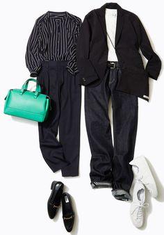 ブラック&濃紺で、いざお仕事スタート! ファッション誌『ar』『FRaU』でも活躍中の人気スタイリスト山脇道子さんがルミネ新宿 ルミネ2のショップから春のシンプルスタイルコーデをレッスン!