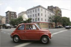 Fiat 500L - Rita Konig (ex-Domino magazine writer) and her lovely Fiat