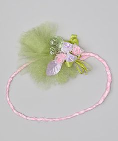 Take a look at this Pink & Green Spring Headband by Enchanted Fairyware Couture on #zulily today!