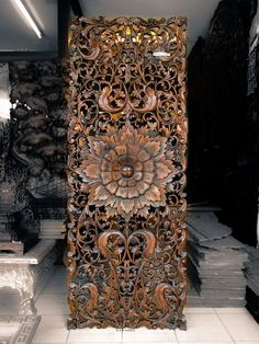 Teak Wood Carving Wall Sculpture Panel