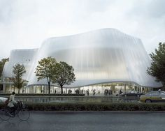 Tinuku MAD Architects shows facade jade and lotus flowers design China Philharmonic Hall in Beijing