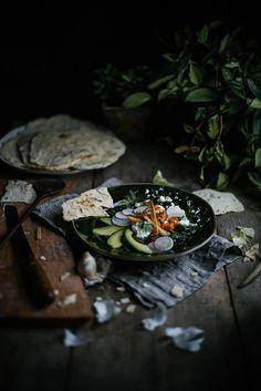Sweet potato & kale tortilla soup from feast