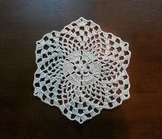 Crochet Beautiful Mini Doily - Pineapples Pattern - Part 1