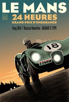 Ilustraciones retro por Guy Allen 1                              … Art Deco Posters, Car Posters, Vintage Racing, Vintage Ads, 24 Hours Le Mans, Vintage Metal Signs, Car Illustration, Grand Prix, Automotive Art