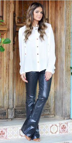 A Thássia Naves ficou linda com essa camisa de seda Le Lis. #hit