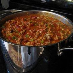Wendy's Chili Recipe -  Very close, but, not quite..... Still really good!!! ----------------------------------------------------- I just made this and I added 1/4 cup cider vinegar and it gives it that nice tang that Wendy's chili has.  It was great!!!