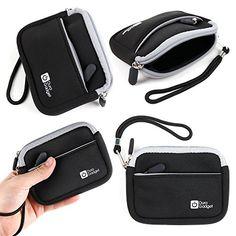 nice DURAGADGET Premium Quality Black Neoprene Water-Resistant Carry Case - Compatible with the Garmin Vivosmart HR+ Activity Tracker