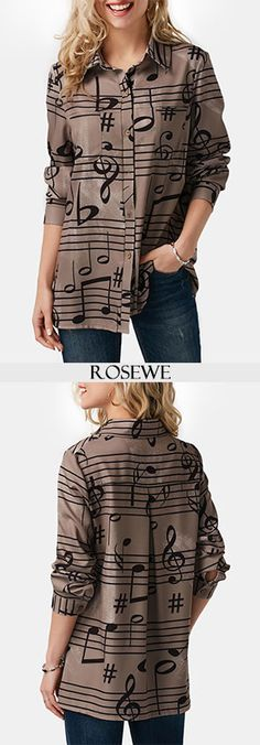 Cute music shirt for women at Rosewe.com, free shipping worldwide, check it out.