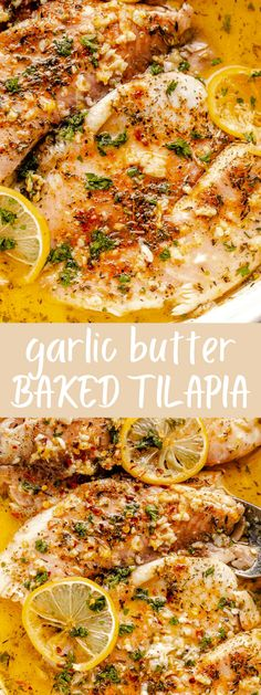 Easy Garlic Butter Oven Baked Tilapia seasoned with a classic blend of lemon, garlic, melted butter and paprika. Simple and insanely good! #tilapia #seafood #fish #dinner Oven Baked Tilapia, Cooking Tilapia In Oven, Baked Tilapia Recipes, Healthy Tilapia, Fish Recipes, Seafood Recipes, Cooking Recipes, Dinner Recipes, Talpia Recipes