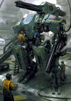 Cool Sci-Fi Machines, Walker #robot #machines [http://www.pinterest.com/alfredchong/] 22/10/2014