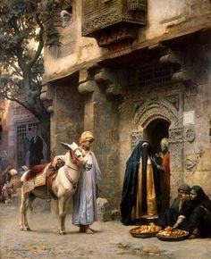 A Lady of Cairo Visiting, Frederick Arthur Bridgman (American 1847 – Arabic Art, Art Painting, Fine Art, Islamic Art, Bridgman, Arabian Art, Egyptian Art, Historical Art, Eastern Art