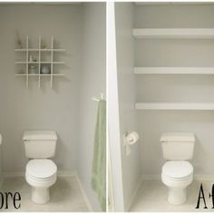 Behind The Toilet Shelving Unit