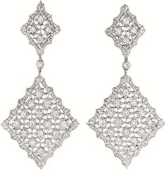 PHILLIPS : NY060211, Buccellati, A Pair of Diamond and Gold Ear Pendants